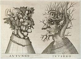Autumn and Winter, undated by Arcimboldo | Painting Reproduction