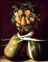 Whimsical Portrait, undated by Arcimboldo | Painting Reproduction