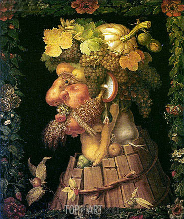 Autumn, 1573 | Arcimboldo | Painting Reproduction
