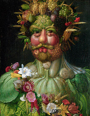 Rudolf II (Vertumnus), c.1590 | Arcimboldo | Painting Reproduction