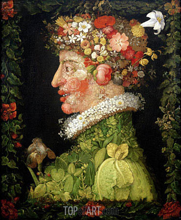 Spring, 1573 | Arcimboldo | Painting Reproduction