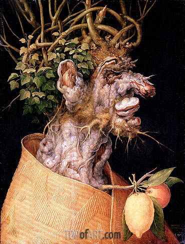 Winter, 1563 | Arcimboldo| Painting Reproduction
