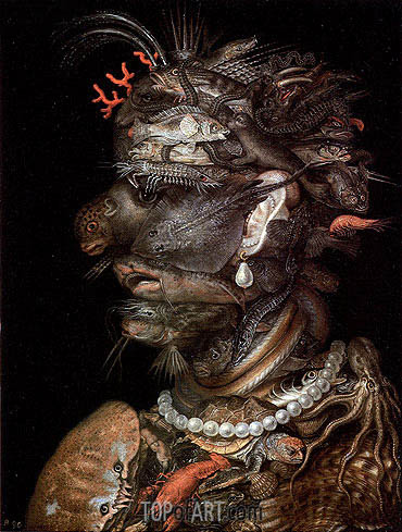 Water, 1566 | Arcimboldo | Painting Reproduction