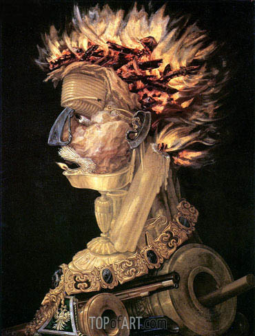 Fire, 1566 | Arcimboldo | Painting Reproduction