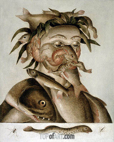 Arcimboldo | An Allegory of Water, undated