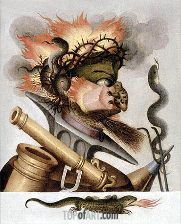 An Allegory of Fire, undated | Arcimboldo| Gemälde Reproduktion