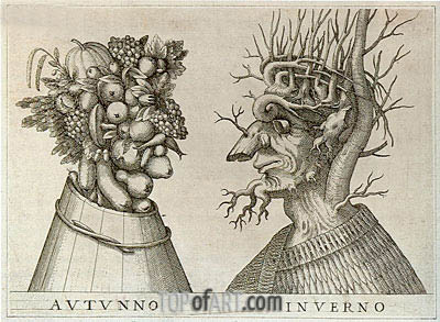 Autumn and Winter, undated | Arcimboldo | Painting Reproduction