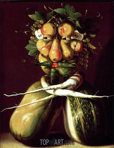 Whimsical Portrait, undated | Arcimboldo| Painting Reproduction