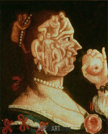 Portrait of Eve, undated | Arcimboldo| Gemälde Reproduktion