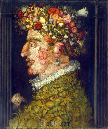 Spring, c.1598 | Arcimboldo| Painting Reproduction