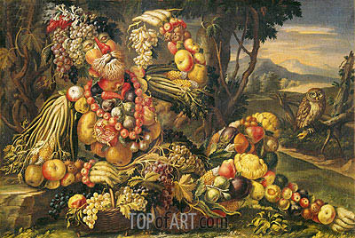 Fall (Autumn), c.1685/95 | Arcimboldo| Painting Reproduction