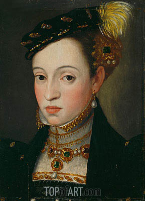 Archduchess Magdalena, Daughter of Emperor Ferdinand I, c.1557 | Arcimboldo | Painting Reproduction