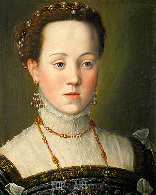 Archduchess Anna of Austria, Queen of Spain, c.1569 | Arcimboldo | Gemälde Reproduktion