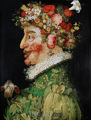 Spring (Allegory of Spring), 1573 | Arcimboldo | Painting Reproduction
