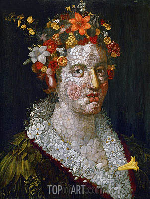 Flora, 1591 | Arcimboldo| Painting Reproduction