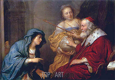 Bathsheba's Appeal to David, 1651 | Govert Flinck | Painting Reproduction