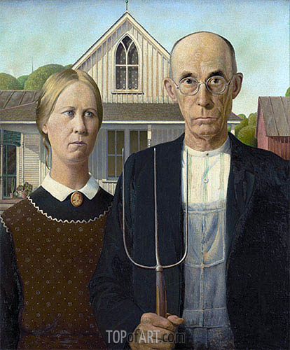Grant Wood | American Gothic, 1930