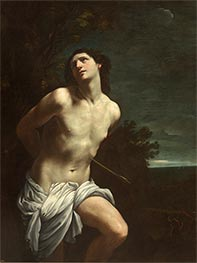 Saint Sebastian, c.1617/18 by Guido Reni | Painting Reproduction