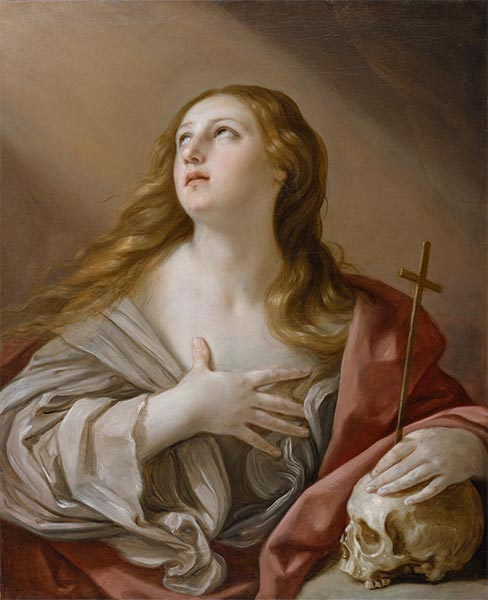 The Penitent Magdalene, 1635 | Guido Reni | Gemälde Reproduktion