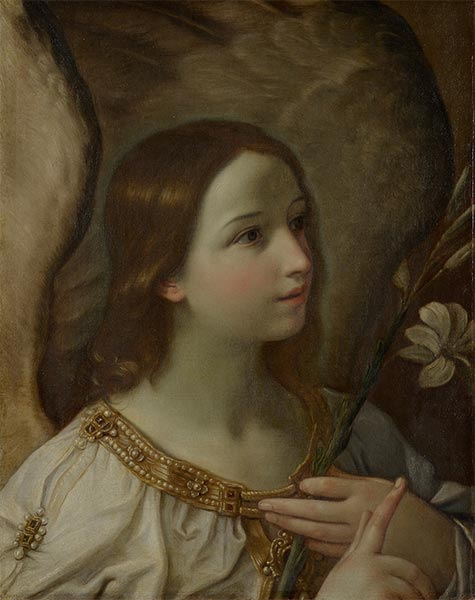 Angel of the Annunciation, undated | Guido Reni | Painting Reproduction