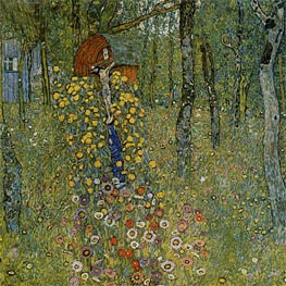 Farm Garden with Crucifix, c.1911/12 by Klimt | Painting Reproduction
