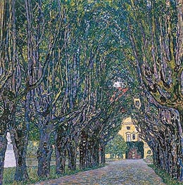 Avenue in Schloss Kammer Park, 1912 by Klimt | Painting Reproduction