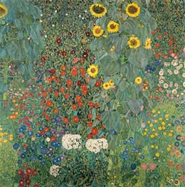 Farm Garden with Sunflowers, c.1905/06 by Klimt | Painting Reproduction