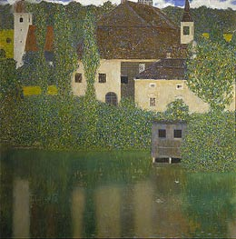 Kammer Castle at Attersee I, 1908 by Klimt | Painting Reproduction