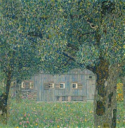 Farmhouse in Upper Austria, 1911 by Klimt | Painting Reproduction