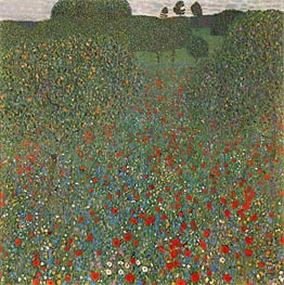 Poppy Field, 1907 by Klimt | Painting Reproduction