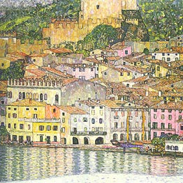 Malcesine on Lake Garda, 1913 von Klimt | Gemälde-Reproduktion