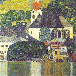 Church at Unterach at Attersee, c.1916/17 von Klimt | Gemälde-Reproduktion