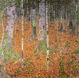 Birch Woods, 1903 by Klimt | Painting Reproduction