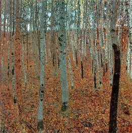 Beech Forest I (Buchenwald), c.1905 by Klimt | Painting Reproduction