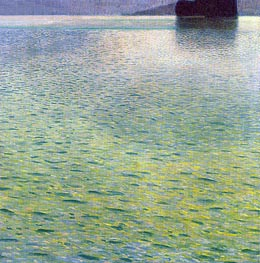 Island in the Attersee, c.1901/02 by Klimt | Painting Reproduction
