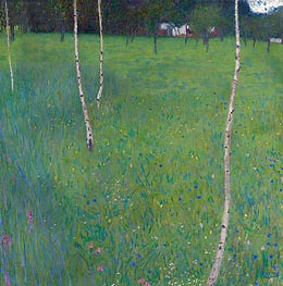 Farmhouse with Birch Trees, 1900 by Klimt | Painting Reproduction