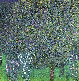 Roses Under the Trees, 1905 by Klimt | Painting Reproduction