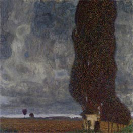 Tall Poplars II (Approaching Thunderstorm), 1903 by Klimt | Painting Reproduction