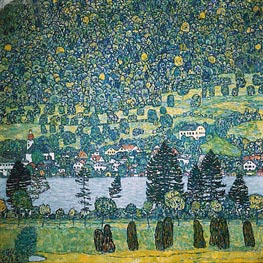 Forest Slope in Unterach on the Attersee, 1917 von Klimt | Gemälde-Reproduktion