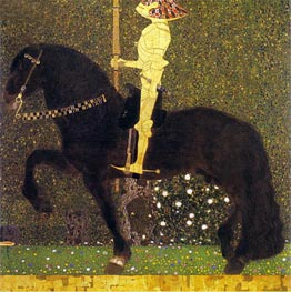 The Golden Knight (Life is a Struggle), 1903 von Klimt | Gemälde-Reproduktion