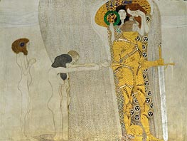 Desire of Happiness (The Beethoven Frieze), 1902 von Klimt | Gemälde-Reproduktion