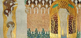Choir of Angels (The Beethoven Frieze), 1902 von Klimt | Gemälde-Reproduktion