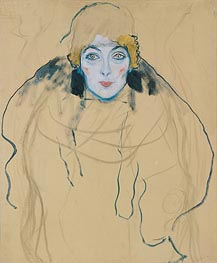Head of a Woman, 1917 von Klimt | Gemälde-Reproduktion