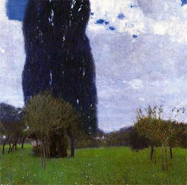 The Tall Poplar I, 1900 von Klimt | Gemälde-Reproduktion