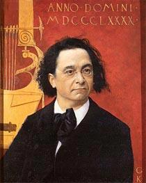 Portrait of the Pianist and Piano Teacher Joseph Pembauer | Klimt | Gemälde Reproduktion