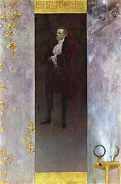 Hofburg actor Josef Lewinsky as Carlos, 1895 by Klimt | Painting Reproduction