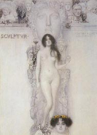 Allegory of Sculpture, 1896 by Klimt | Painting Reproduction