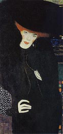 Portrait of a Lady in Red and Black | Klimt | Gemälde Reproduktion