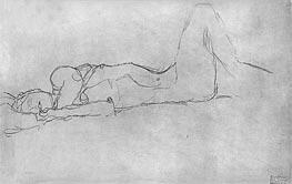 Reclining Female Nude | Klimt | Gemälde Reproduktion