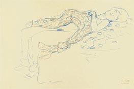 Reclining Semi-Nude | Klimt | Gemälde Reproduktion